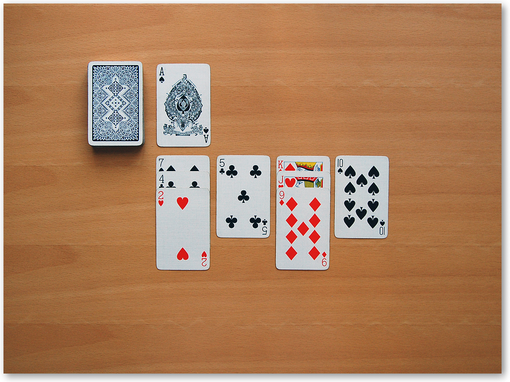 double deck solitaire rules