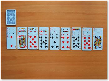 directions on playing solitaire card game
