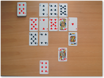 solitaire card game rules not online