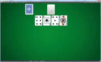 A game of Aces Up in SolSuite Solitaire