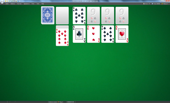 A game of Canfield in SolSuite Solitaire