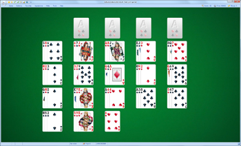 A game of Fan in SolSuite Solitaire