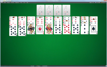 A game of Fortress in SolSuite Solitaire
