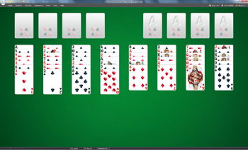 A game of Freecell in SolSuite Solitaire