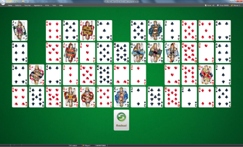 A game of Gaps in SolSuite Solitaire