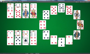 A game of Grandfather's Clock in SolSuite Solitaire