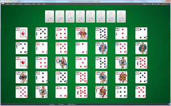 A game of House in the Wood in SolSuite Solitaire