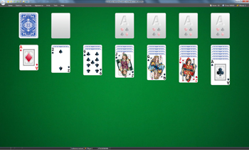 A game of Klondike in SolSuite Solitaire