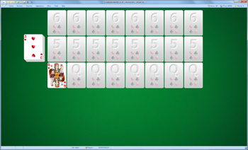 A game of Laggard Lady in SolSuite Solitaire