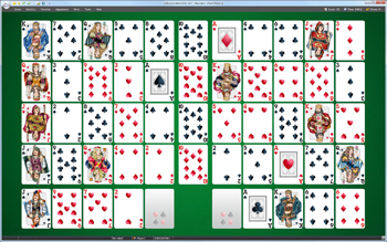 A game of Napoleon Solitaire in SolSuite Solitaire