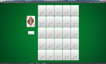 A game of Poker Solitaire in SolSuite Solitaire