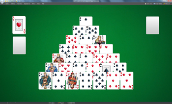 A game of Pyramid in SolSuite Solitaire